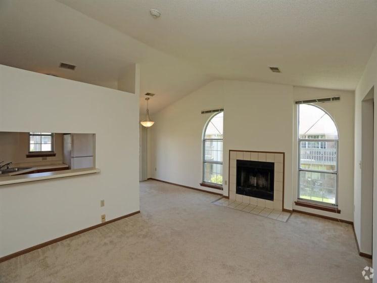 Wood Burning Fireplaces in Each Home at Deer Run Apartments, Brown Deer, WI, 53223