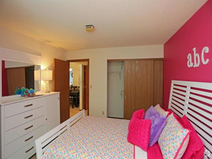 Lavish Bedroom With Ample Storage at Deer Run Apartments, Brown Deer, WI, 53223