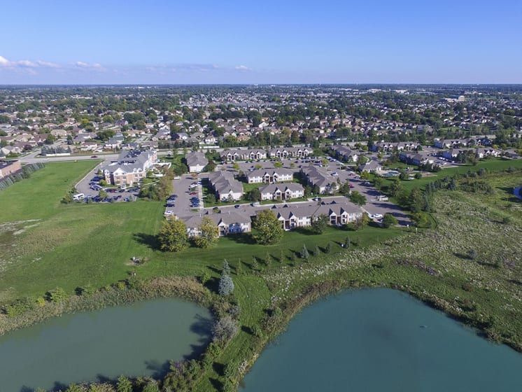 Ariel View of the Lakeside Park Community