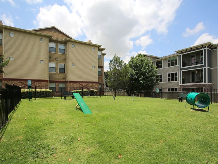 Pet Park On Lawn at Lost Spurs Ranch Apartments in Roanoke, TX