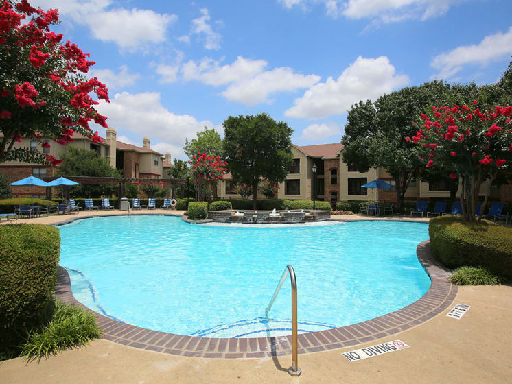 Large Swimming Pool During the Daytime at Lost Spurs Ranch Apartments in Roanoke, Texas