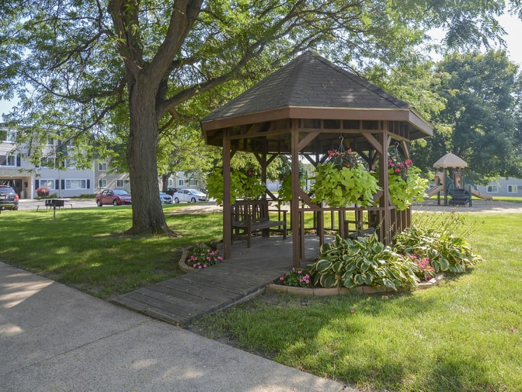 Outdoor Seating Area Near The Playground