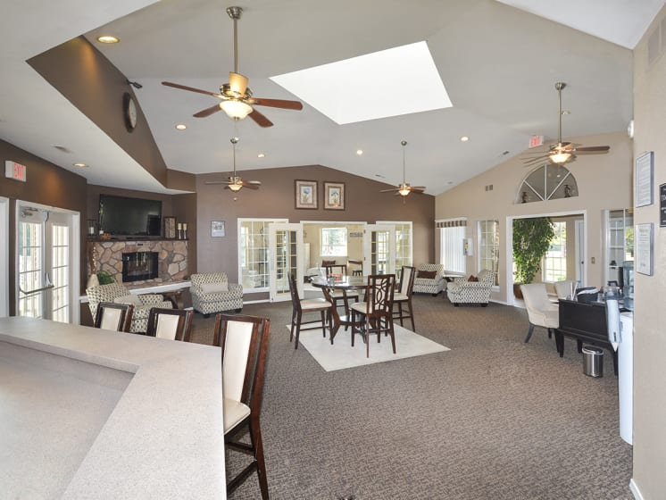Clubhouse Lounge with Tall Vaulted Ceilings