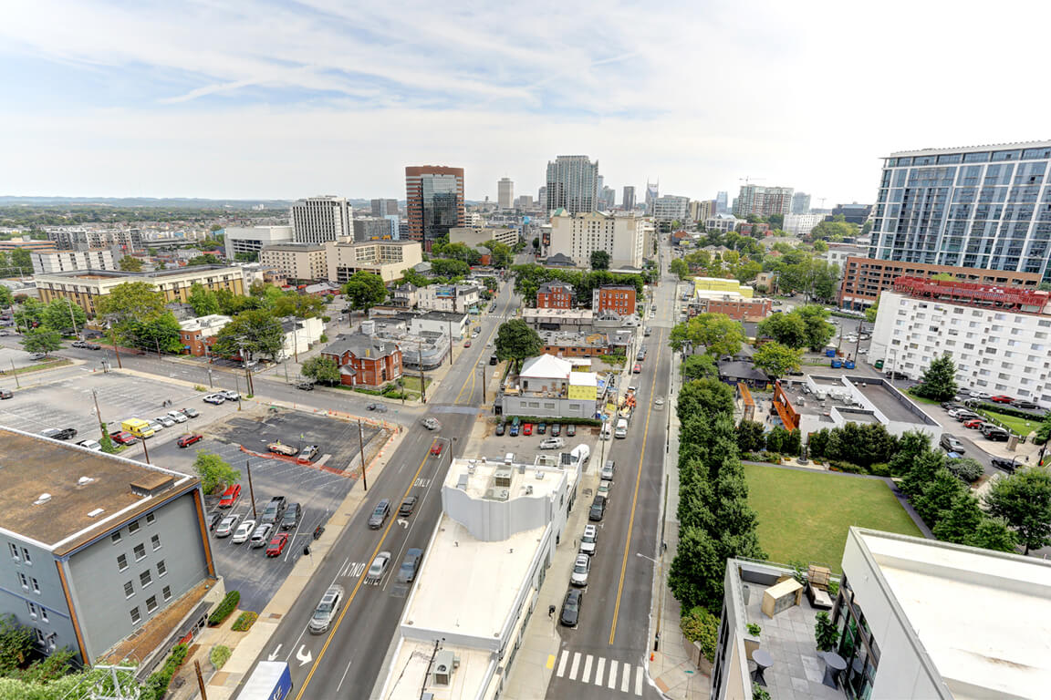 Top View Of Property and Surroundings at Aertson Midtown, Nashville