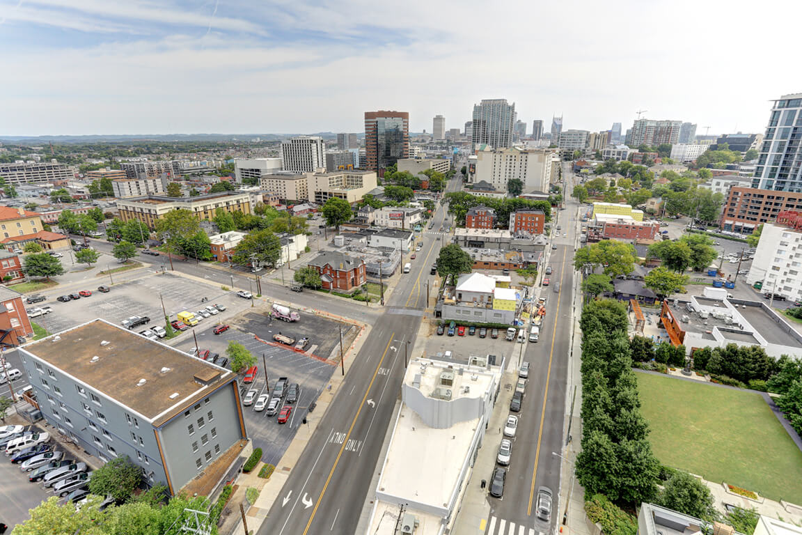 Aerial View Of The City at Aertson Midtown, Tennessee, 37203