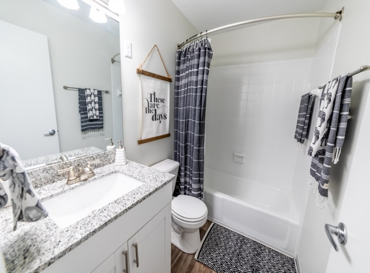 Soaking Tubs With Ceramic Tile at Governor Square Apartments, Carmel, IN, 46032