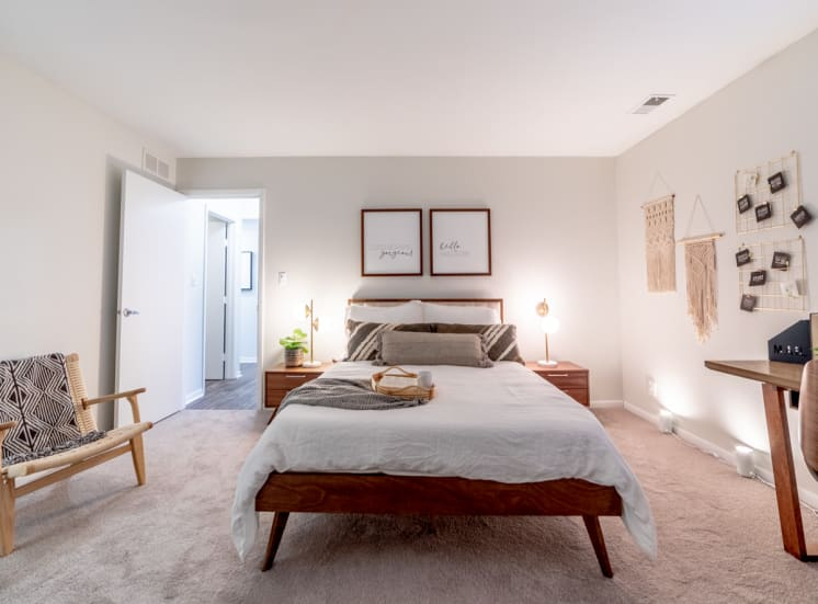 Plush Carpeting in Bedrooms at Governor Square Apartments, Carmel
