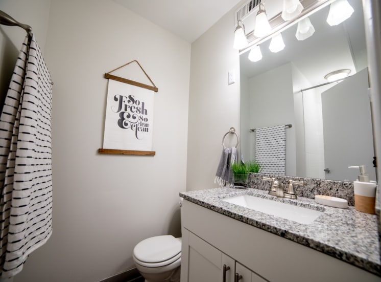 Upgraded Light Fittings In Bathroom at Governor Square Apartments, Indiana, 46032