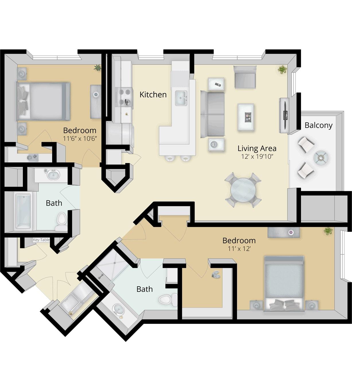 Cirrus Floor Plan 2B