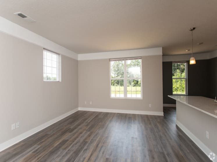 The Drake Living Room with Wide Open Space!