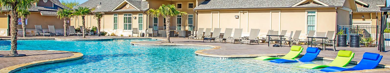 Sparkling Swimming Pool at Arrington Ridge, Round Rock, TX