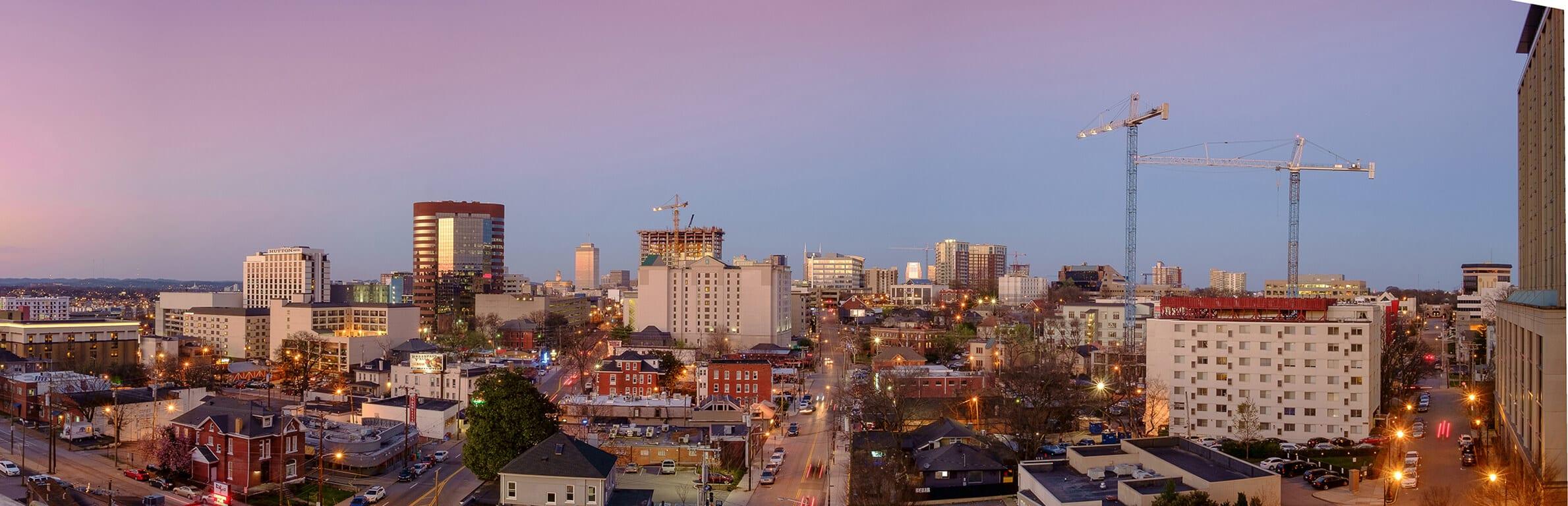 Panoramic View Of City at Aertson Midtown, Nashville, TN, 37203
