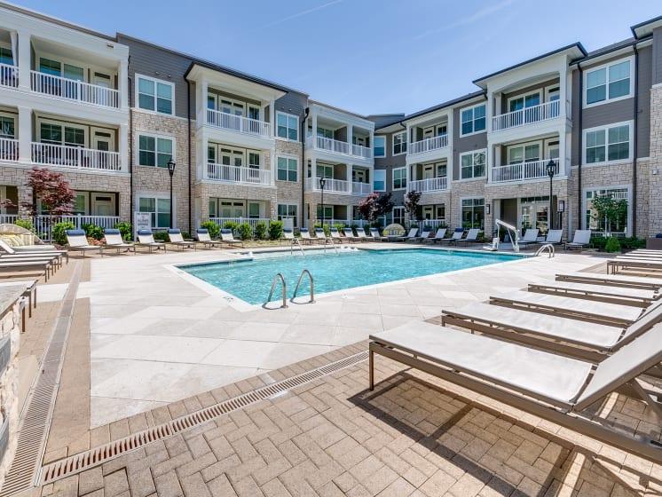 Sparkling Swimming Pool at The Flats at Ballantyne Apartments, Charlotte, North Carolina