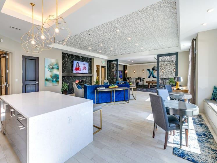 Community Room at The Flats at Ballantyne Apartments, Charlotte, North Carolina