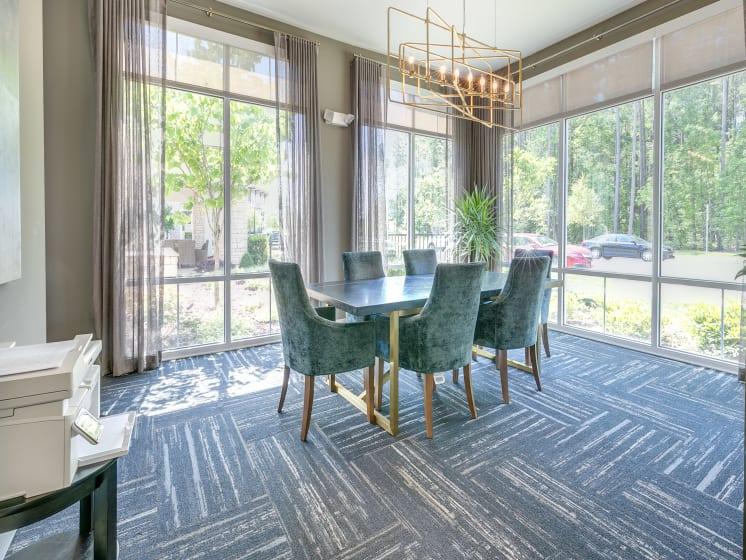 Conference Area at The Flats at Ballantyne Apartments, Charlotte, North Carolina