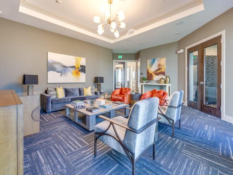 Community Lounge at The Flats at Ballantyne Apartments, Charlotte, North Carolina