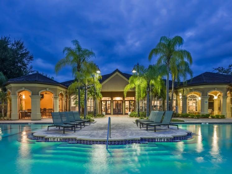 Resort Style Swimming Pool Grand Reserve Tampa Fl 33647