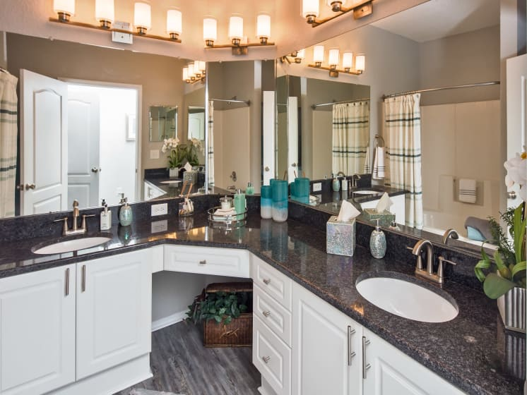 Double Sinks Master Bathroom Grand Reserve Tampa Fl 33647