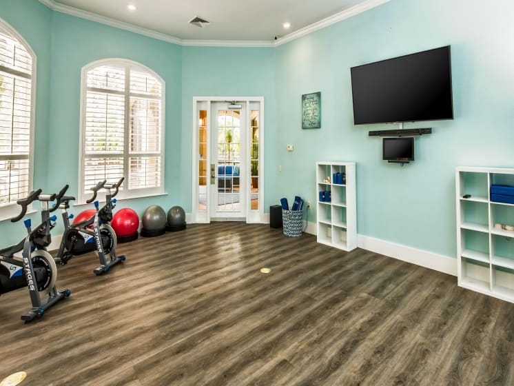 Yoga and Pilates Studio Beautiful Clubhouse Grand Reserve Tampa Fl 33647
