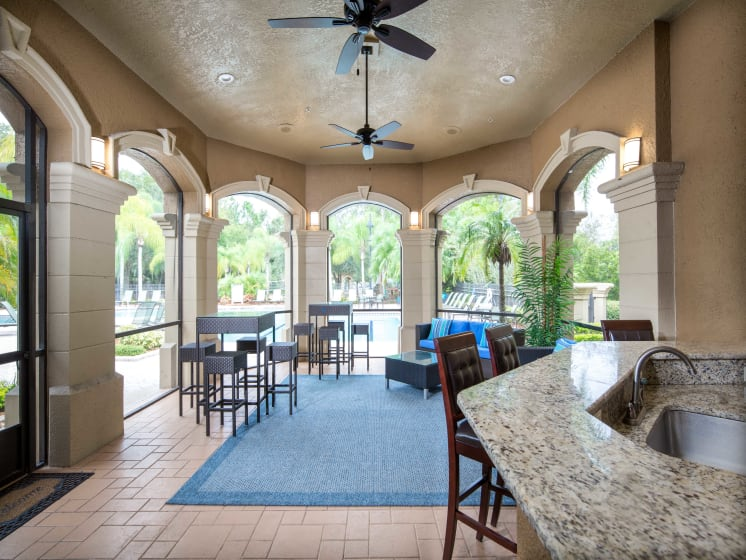 Screened in Outdoor Kitchen Grand Reserve Tampa Fl 33647