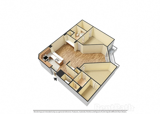 The Porter Brewers Hill Baltimore MD Floor Plan Q Two Bedroom Two Bathroom
