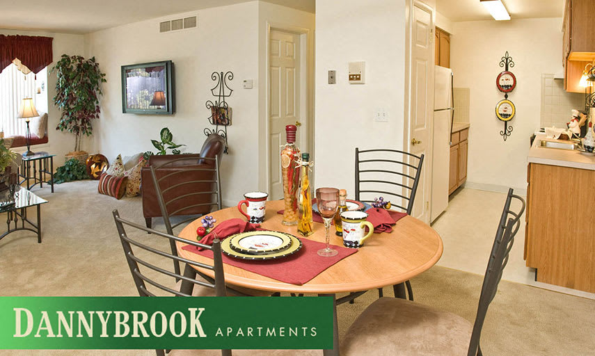 Furnished Living Room and Dinning Area at Dannybrook Apartments, Williamsville, NY