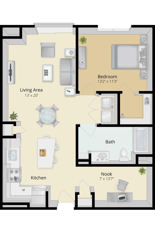 Cirrus Floor Plan 1B