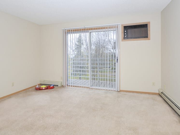 Living Room with Sliding Door to Patio or Balcony