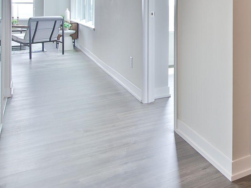 Modern vinyl plank flooring