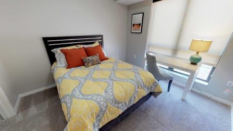 Timber floor plan bedroom