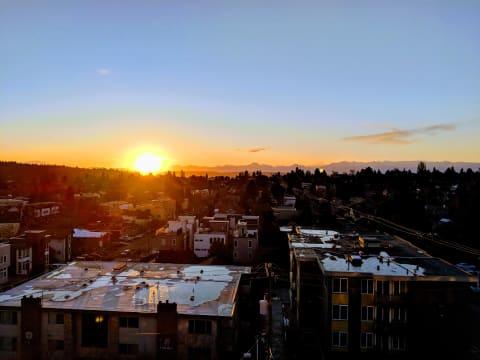 Sunset views over Ballard
