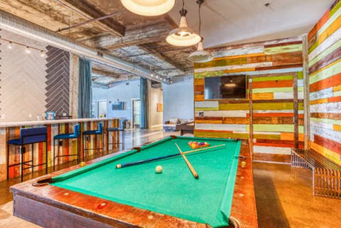Billiards Table In Clubhouse at CityView Apartments, Greensboro, NC