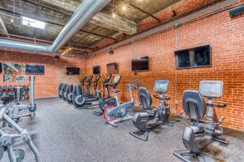 Fitness Center With Updated Equipment at CityView Apartments, Greensboro, North Carolina