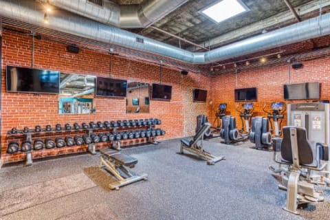 Modern Fitness Center at CityView Apartments, North Carolina