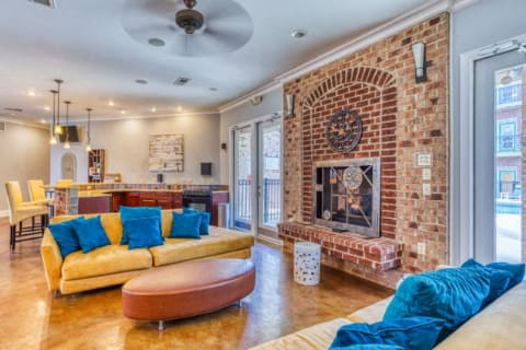 Clubhouse With Fireplace at CityView Apartments, North Carolina, 27406