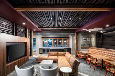 Club Room at Confluence on 3rd Apartments in Des Moines in Downtown Des Moines