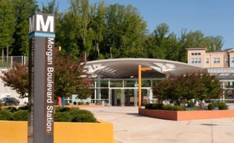 Morgan Boulevard Metro Station Located Across the Street