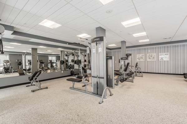 Excercixe equipment at the fitness center at The Preserve