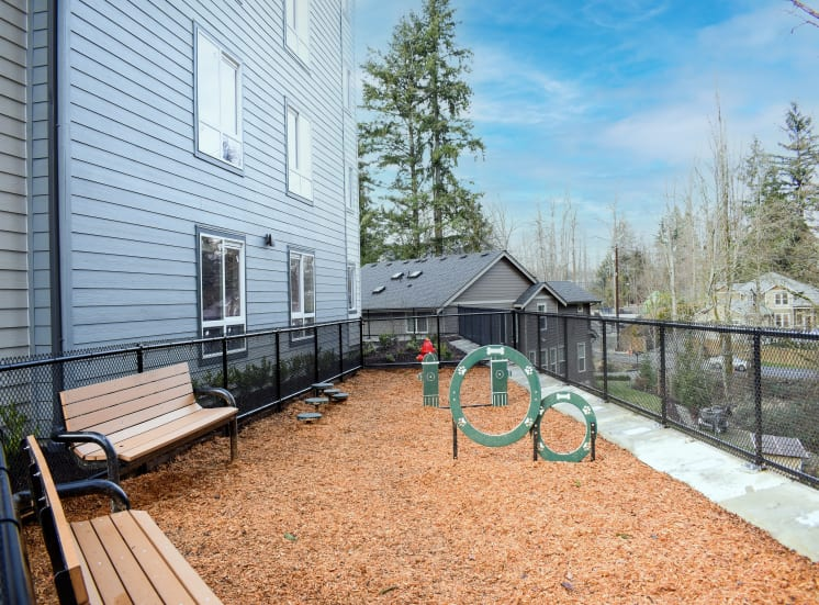Gated Off-Leash Dog Park and Pet Stations at Manor Way Apartments, Everett, WA 98204, United States