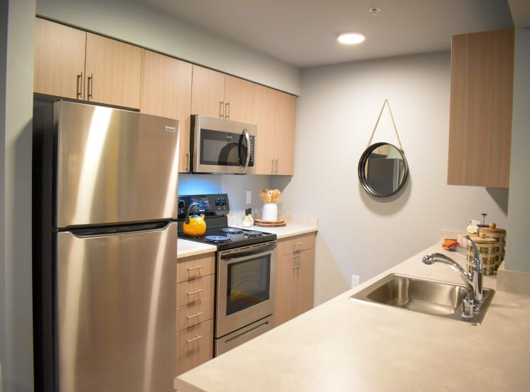 Fully Equipped Kitchen with Microwave and Dishwasher at Manor Way, WA, 98204