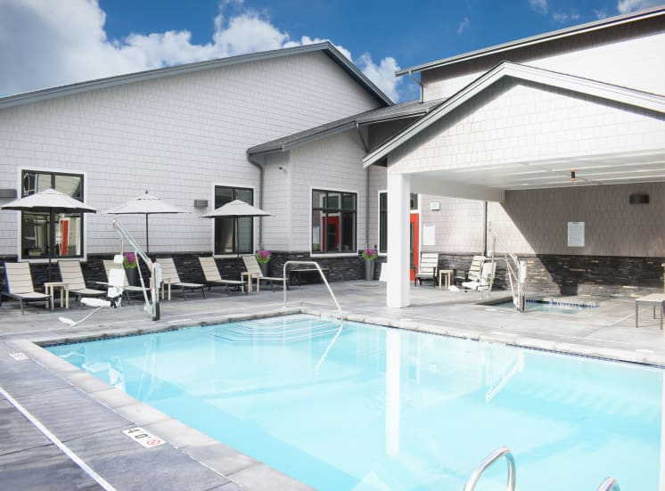 Year-Round Outdoor Pool at Manor Way Apartments, Everett, WA