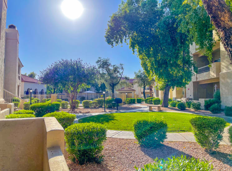 Walking pathways throughout the community at Ventana Apartments in Scottsdale, AZ!