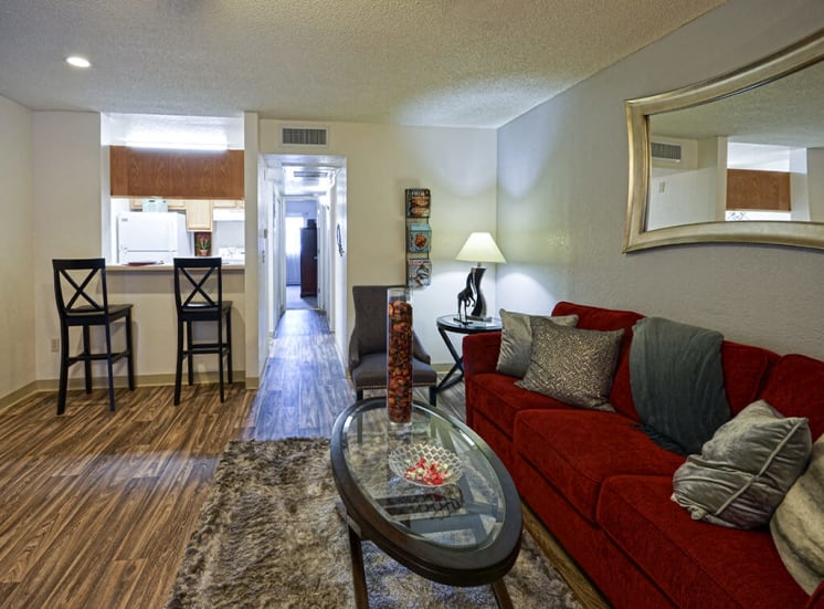 Spacious open concept of Pavilions at Pantano in Tucson, AZ, For Rent. Now leasing 1, 2 and 3 bedroom apartments.