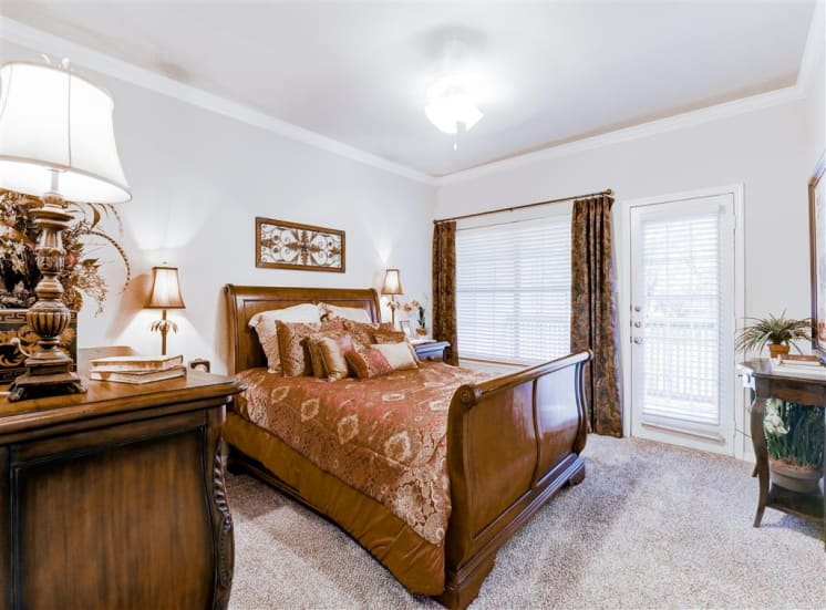 Balcony , Patio off spacious 1, 2 or 3 bedroom apartment   at Saddle Brooke in North Dallas, TX, For Rent.