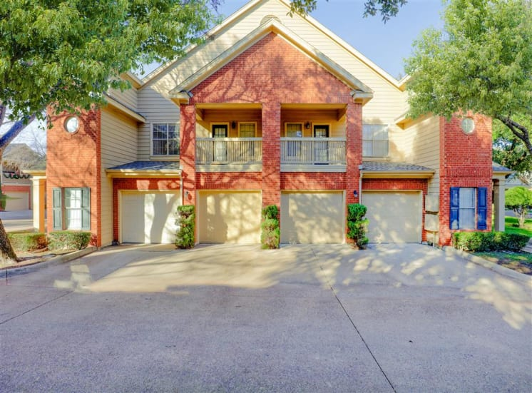 Attached garage of Saddle Brook Apartments in North Dallas, TX, For Rent. Now Leasing 1, 2 and 3 bedroom apartments.