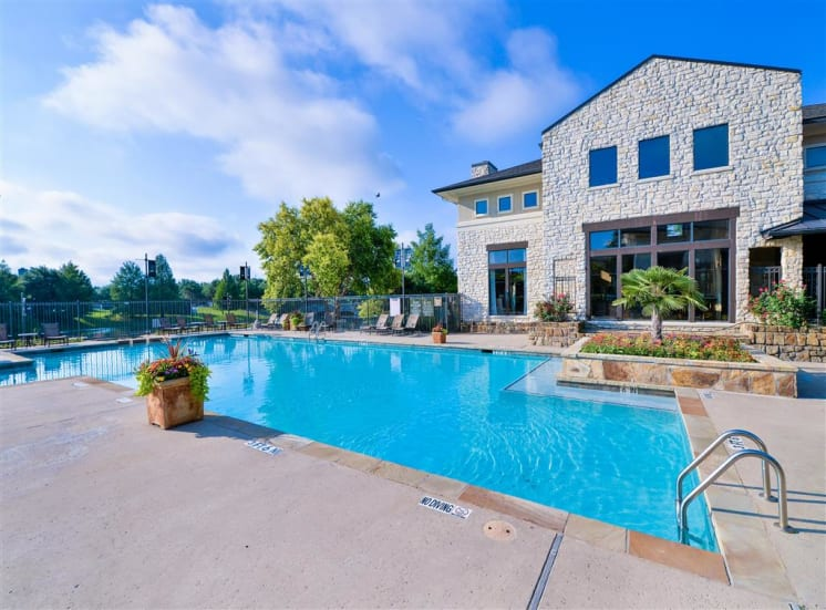 2 Pools open year round at Cypress Lake at Stonebriar Apartments in Frisco, TX, For Rent. Now leasing 1, 2 and 3 bedroom apartments.
