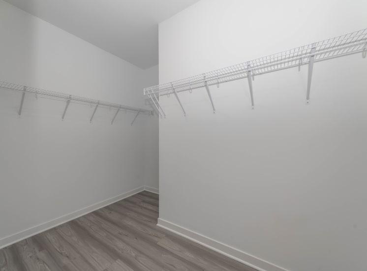 Grand, spacious closets