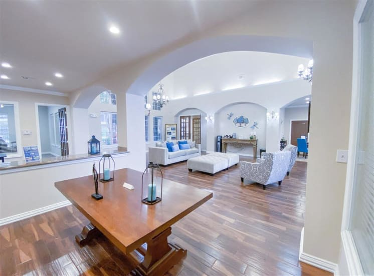 Gates de Provence expansive entry foyer in North Dallas, TX