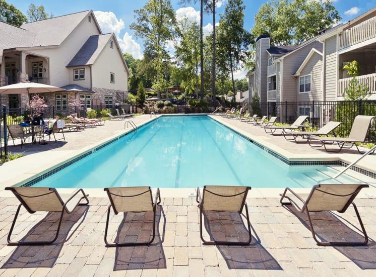Pool Side Relaxing Area at Walton at Columns Drive, Marietta, Georgia