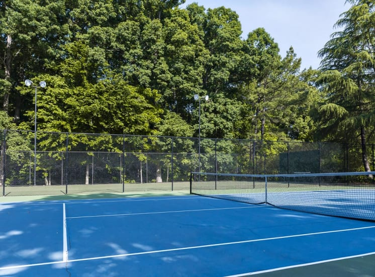 Lighted tennis court and sport court at Walton at Columns Drive, Georgia, 30067